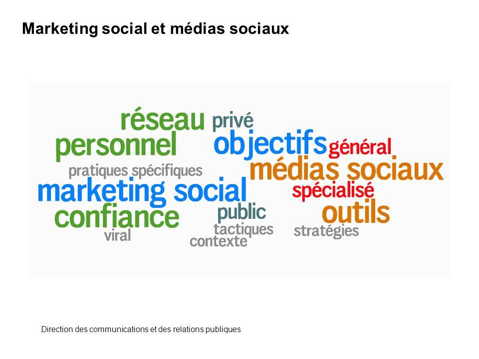 Marketing social et médias sociaux Direction des communications et des relations publiques