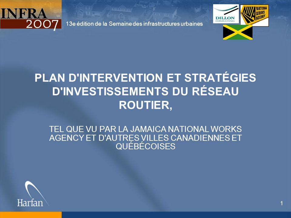 13e édition de la Semaine des infrastructures urbaines 22 Capacité de payer Niveau de service à la population Besoins / Priorité