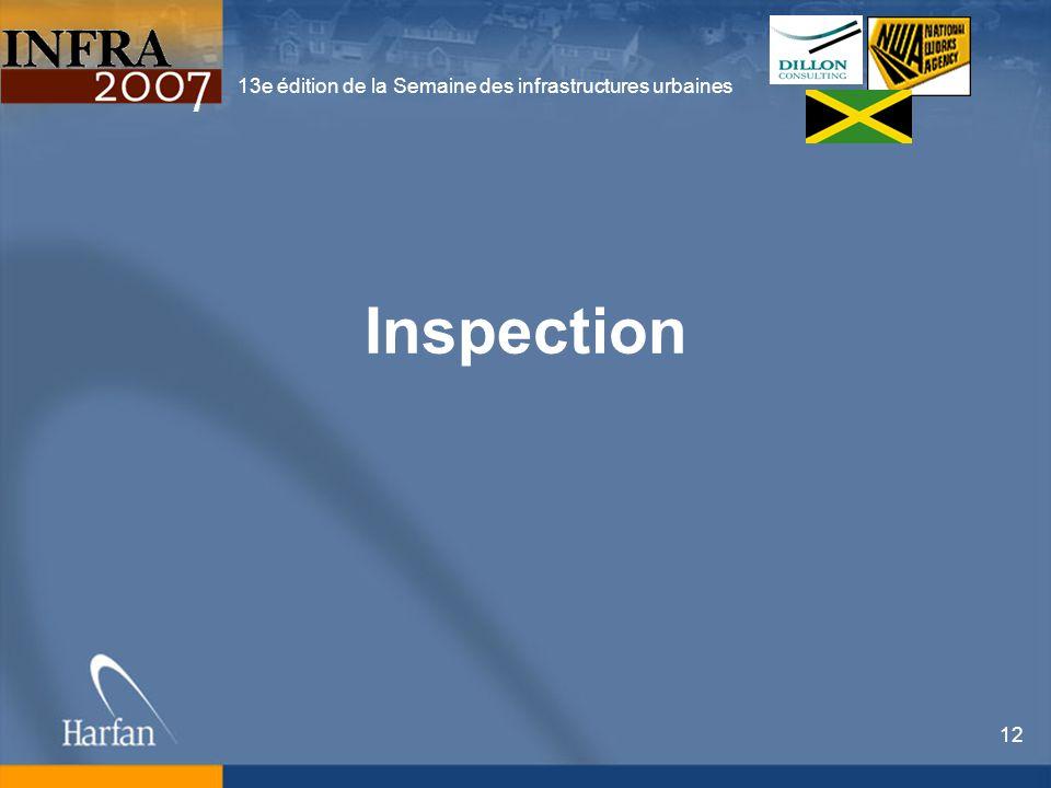 13e édition de la Semaine des infrastructures urbaines 12 Inspection