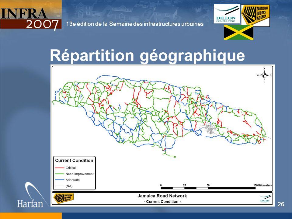 13e édition de la Semaine des infrastructures urbaines 26 Répartition géographique