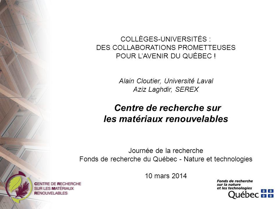 Plan Présentation du CRMR Pôles universitaires Pôles collégiaux Projets de collaboration Transfert technologique Avantages de la collaboration collèges-universités