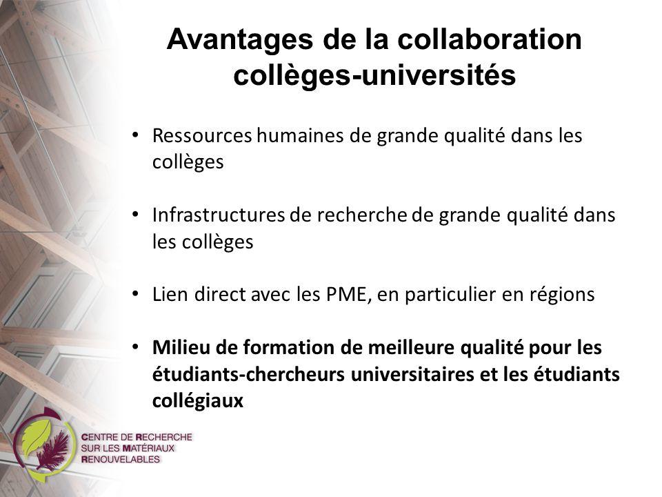 Conclusions La recherche universités-collèges, ça fonctionne.