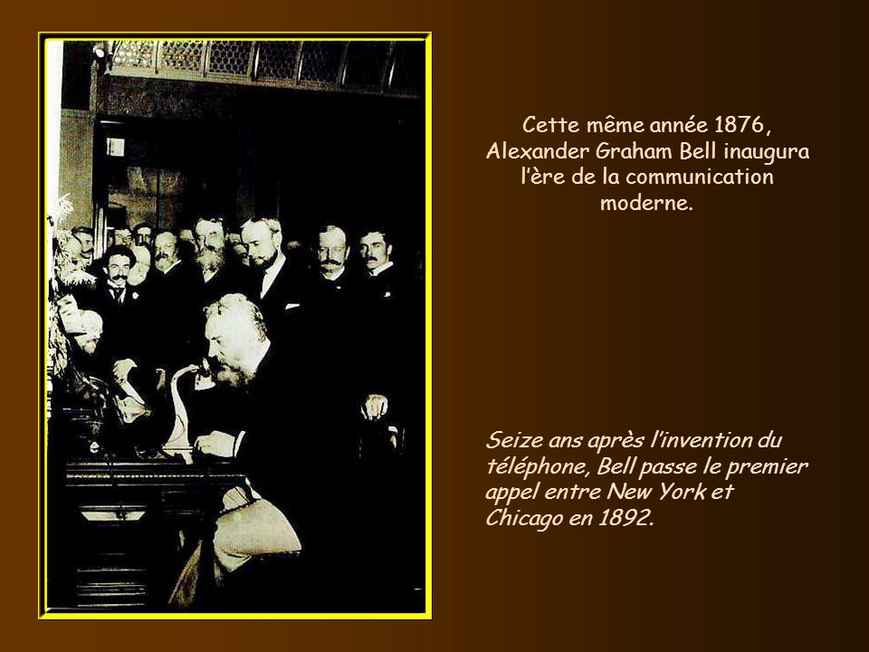 En 1876, le Britannique Alexander Graham Bell convertit en son des signaux électriques. Dans les années 1920, beaucoup defforts furent réalisés pour c