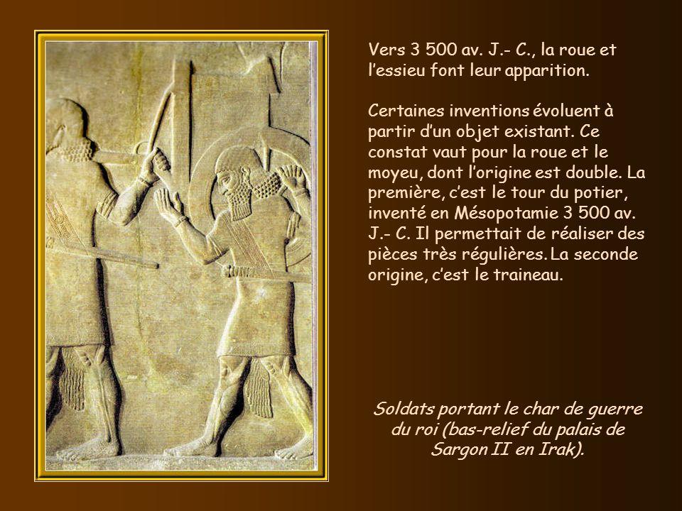 Vers 4 000 av. J.-C. que les Egyptiens lancent un nouveau mode dassemblage : le rivet. Egalement, à la même époque, la cire dabeille et la résine serv