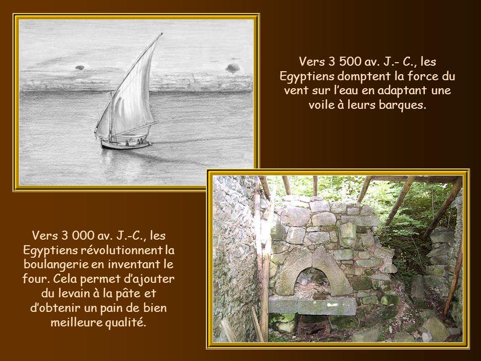 La charrette voit le jour en Mésopotamie vers 3 500 av. J.- C. Char transportant une barrique (bas-relief funéraire romain, à Trier, en Allemagne).
