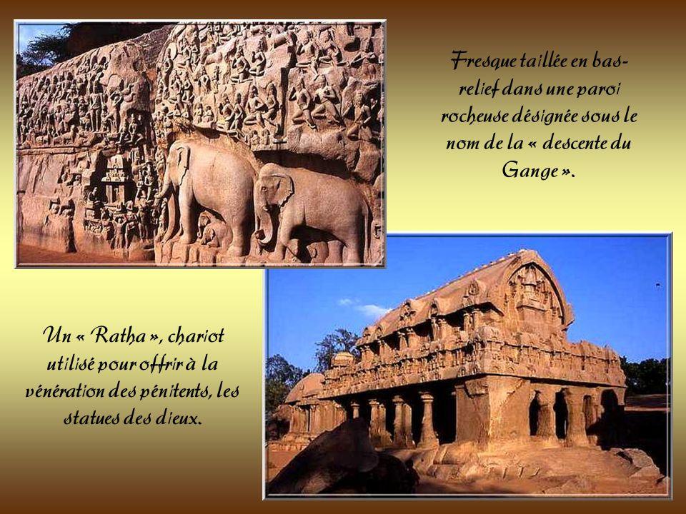 Toutes ces sculptures sont des chef dœuvres de lart Pallava.