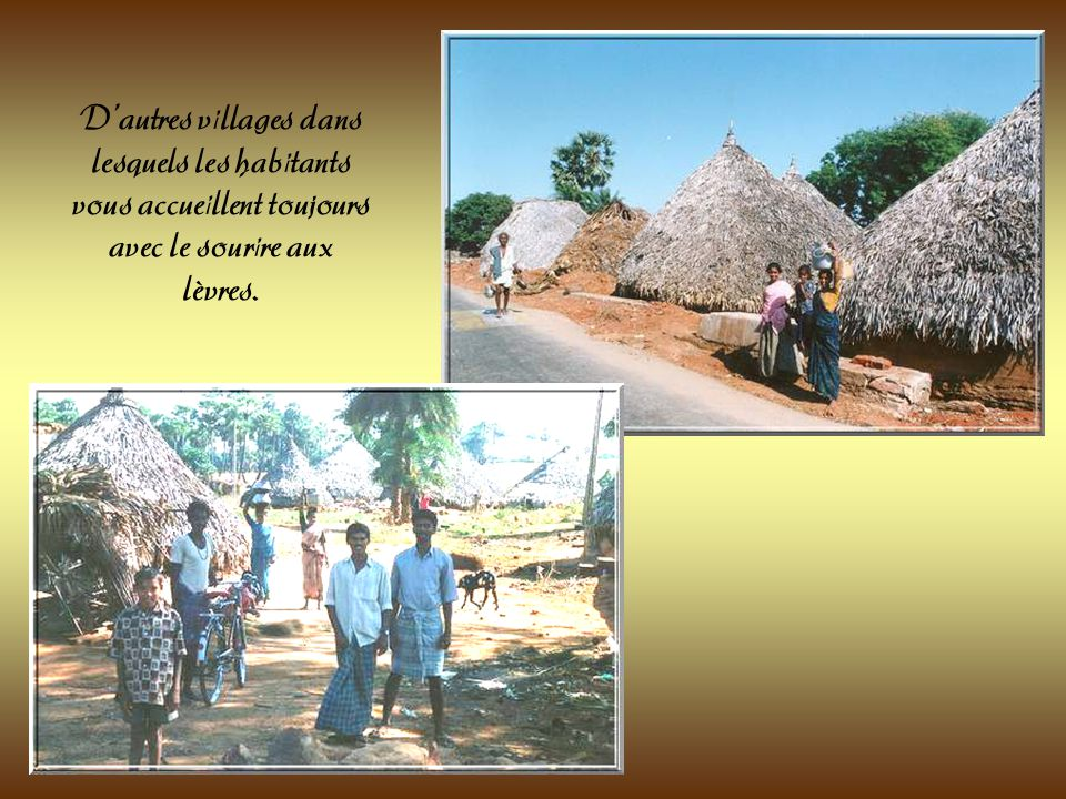 Villages indiens situés sur la route allant de Vishakapatnam à Tanuku dans lAndhra Pradesh.