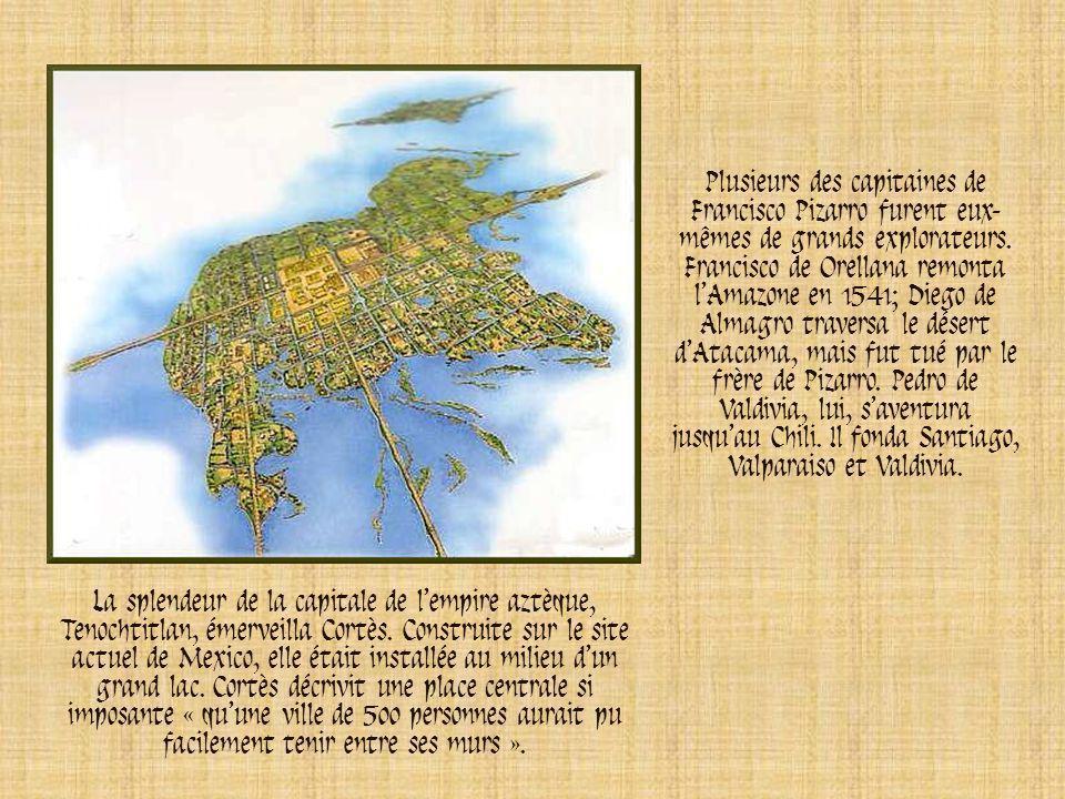 Les conquistadors voulaient convertir au christianisme les peuples qu'ils avaient conquis et des prêtres suivaient les armées. Cortès trouva là un pré