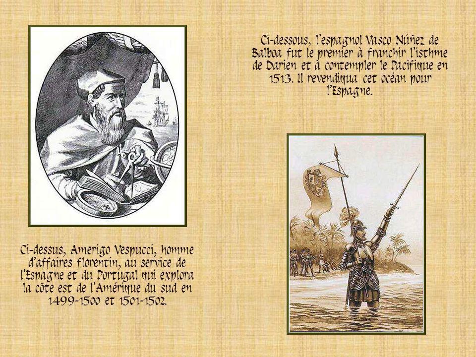 Ci-contre, le marchand dépices et navigateur vénitien Jean Cabot, appareillant du port britannique de Bristol en 1497. Il traversa lAtlantique Nord et