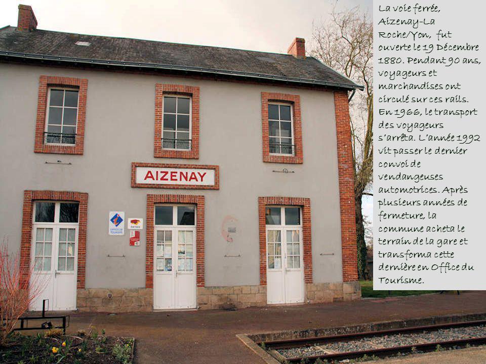 Aizenay est une commune française de la Vendée, dont les habitants sont appelés Agésinates, ce qui voudrait dire « conducteur dânes » selon une tradit