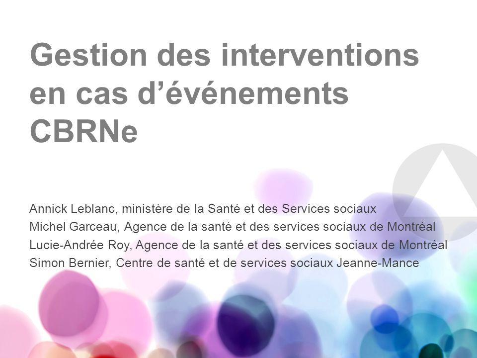 Des ressources alternatives Projet pilote avec la Société de transport de Montréal pour lutilisation dun autobus afin de faire la décontamination des victimes à lentrée des hôpitaux