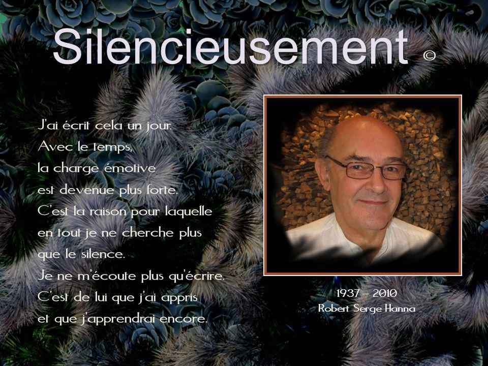 Silencieusement Silencieusement © Jai écrit cela un jour.