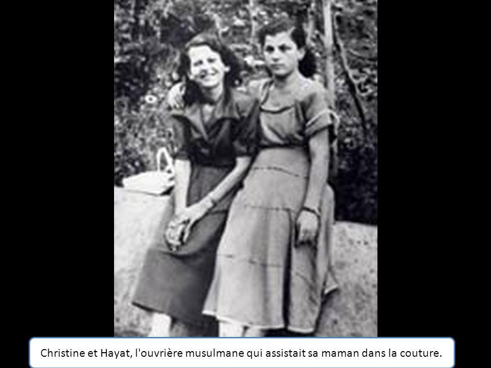 Christine et Najiba, la grand mère paternelle de l'auteur qu'elle a élevé elle-même.