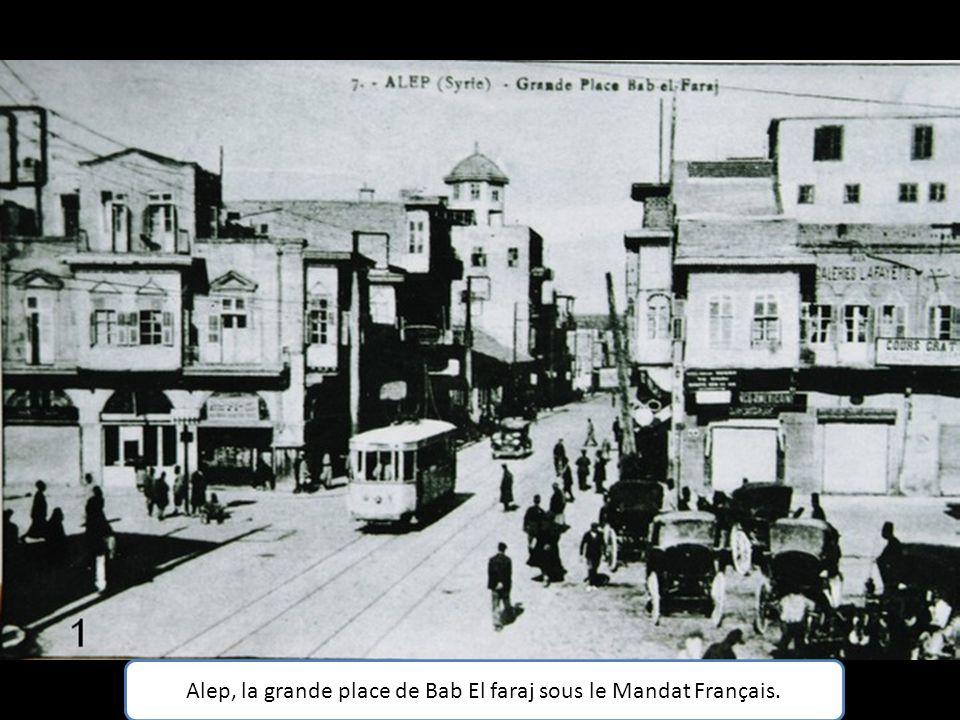 Alep, la grande place de Bab El faraj sous le Mandat Français.