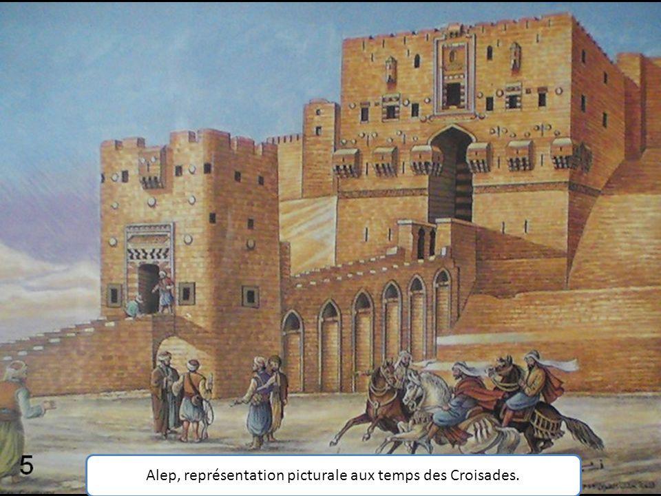 Alep, représentation picturale aux temps des Croisades.