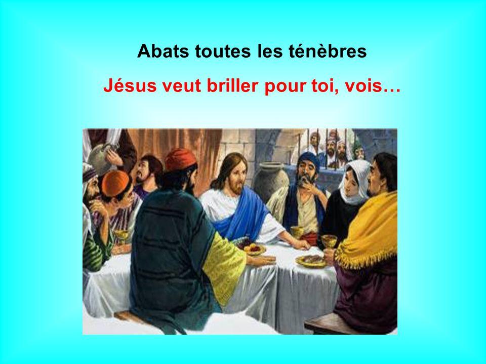 Abats toutes les ténèbres Jésus veut briller pour toi, vois…