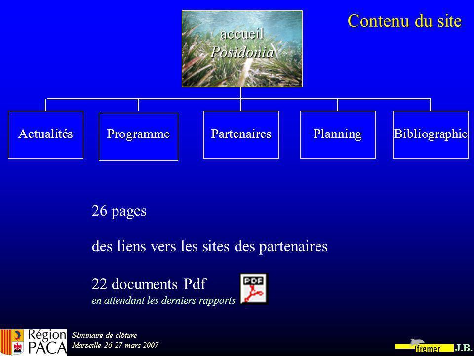 Séminaire de clôture Marseille 26-27 mars 2007 J.B.