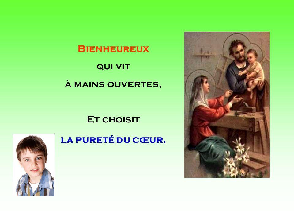 .. Saint Joseph, obtiens-moi sa Lumière, Pour rester en Lui toujours présent.