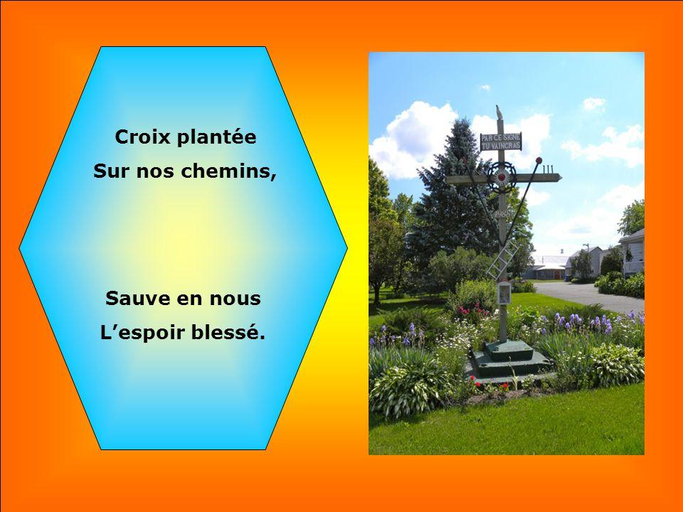 .. Croix plantée Sur nos chemins, Bois fleuri Du sang versé,
