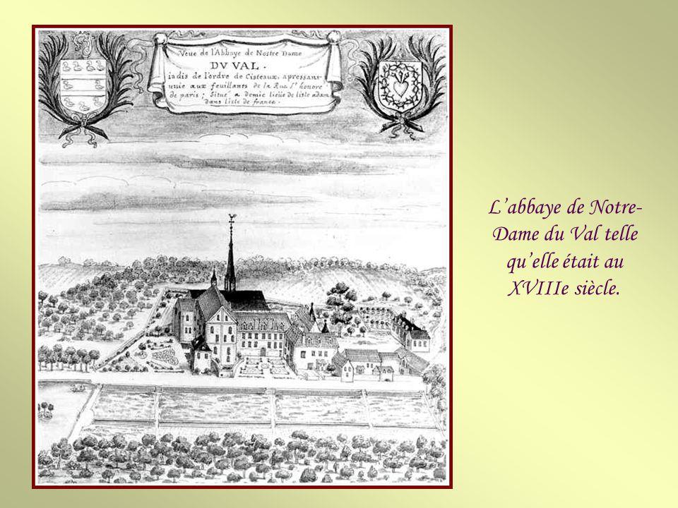 Labbaye Notre-Dame du Val est une ancienne abbaye cistercienne située sur le territoire des communes de Mériel et Villiers-Adam dans le Val-dOise, à t