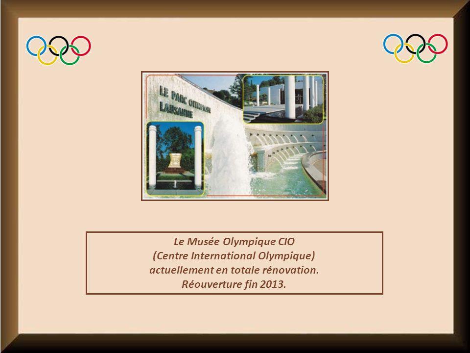 Le Musée Olympique CIO (Centre International Olympique) actuellement en totale rénovation.