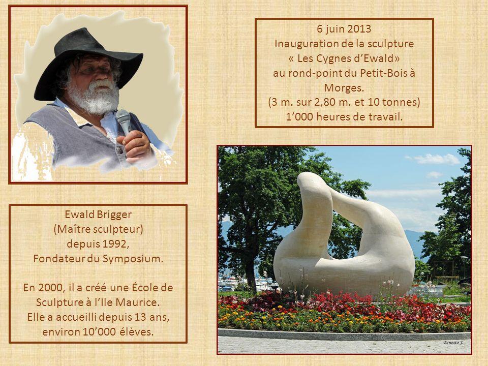 Ewald Brigger (Maître sculpteur) depuis 1992, Fondateur du Symposium.