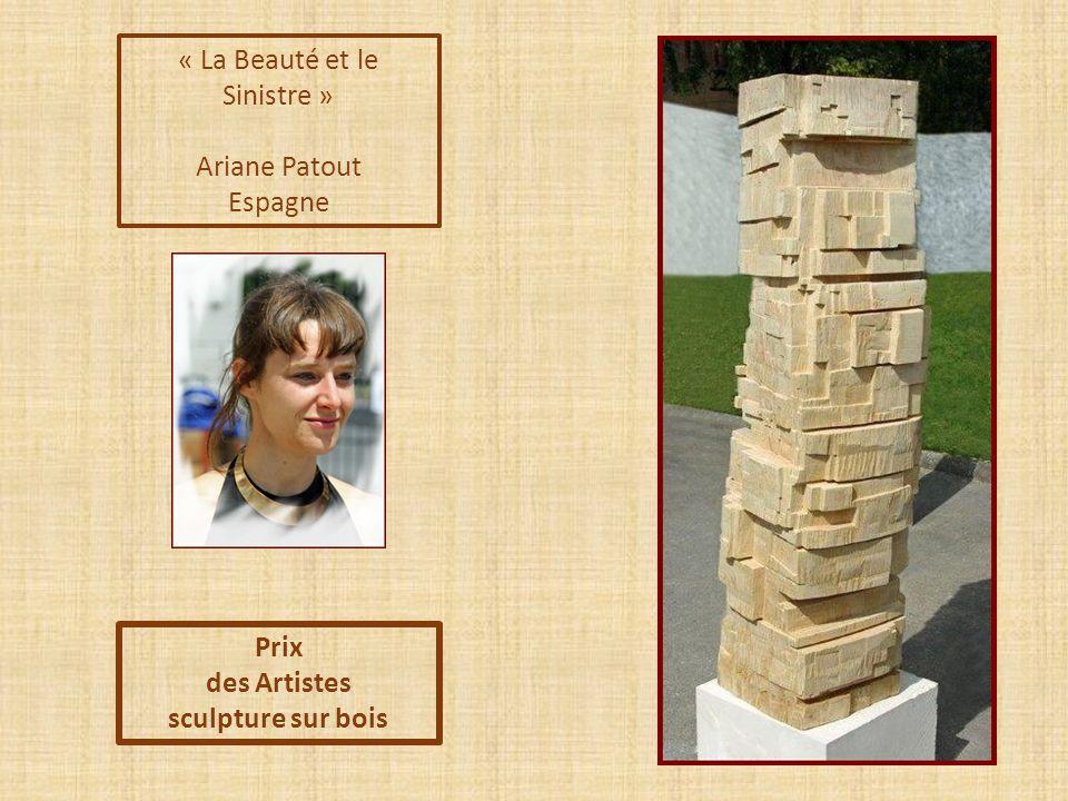 « Le Vent Suisse » Gilbert Alberto Philippines Prix des Artistes et du Public sculpture sur bois