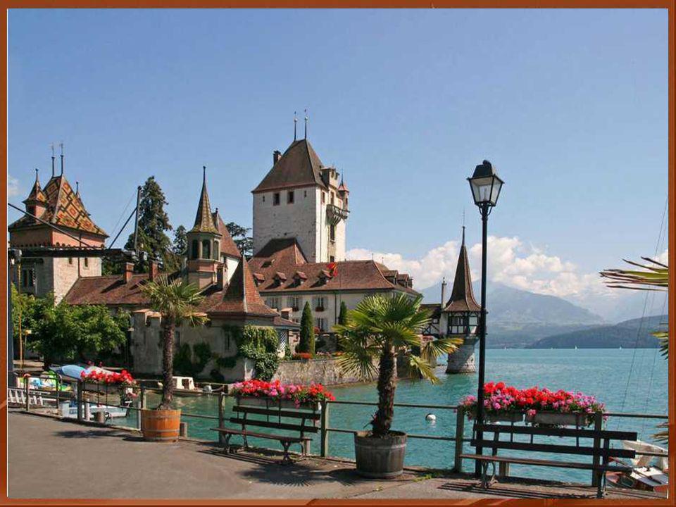 Il est situé sur les rives du lac de Thoune dans le canton de Berne et date du XIII siècle .
