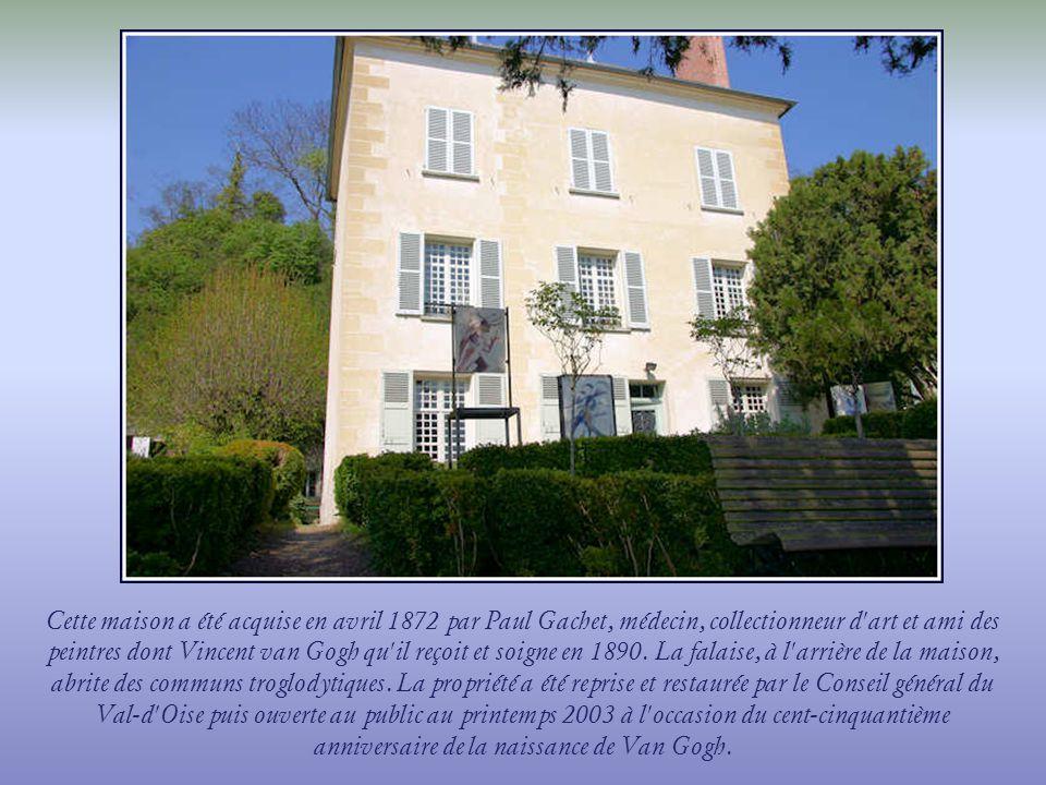 Construite au XVIIe siècle, cette petite maison dIle-de-France faisait partie du fief de la Sansonne, lun des plus anciens dAuvers-sur- Oise.En 1890, Van Gogh la peinte dans son tableau, lEscalier dAuvers.