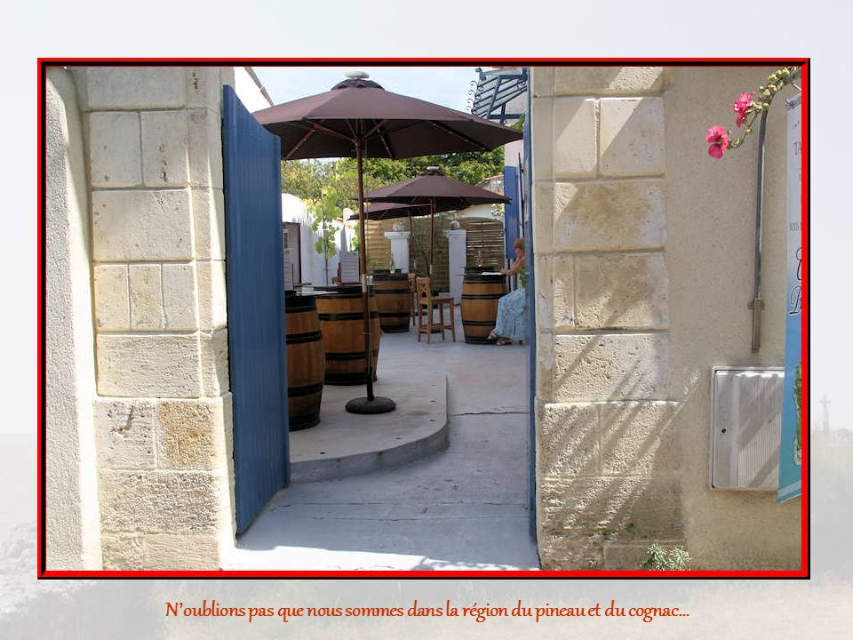 Noublions pas que nous sommes dans la région du pineau et du cognac…
