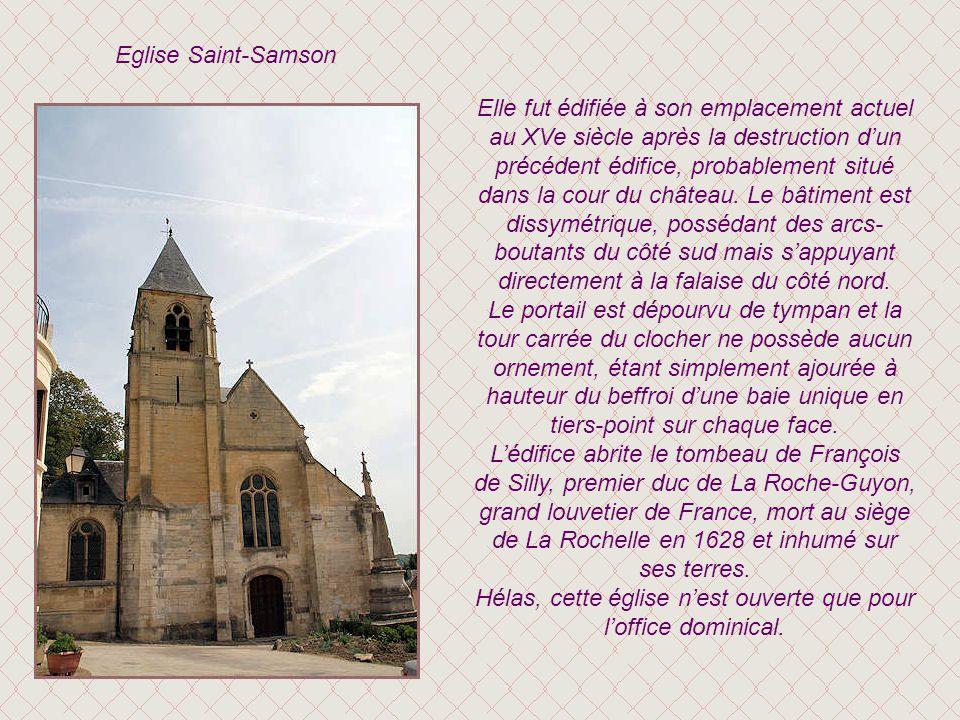 Le pavillon de la Gabelle Ce pavillon abritait au XVIIIe siècle le grenier à sel de La Roche-Guyon. La gabelle était une taxe dorigine féodale sur le