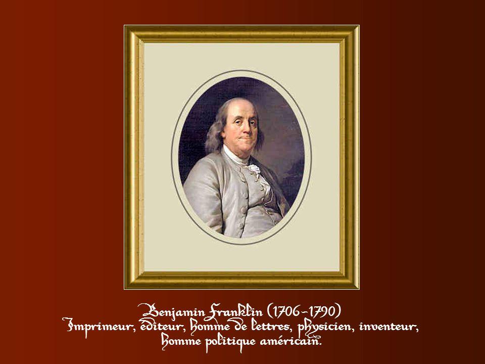 Anne-Catherine de Ligneville, encore très belle veuve d'Helvetius, ayant vainement attendu Benjamin Franklin l'accueille ainsi à sa visite suivante, u