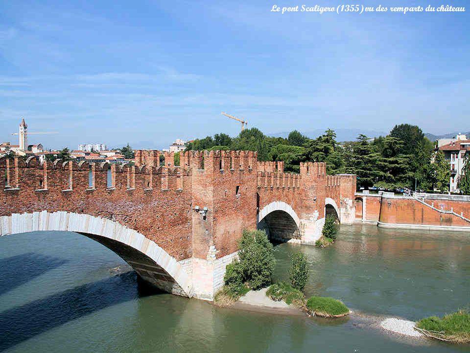 Le pont Scaligero (1355) vu des remparts du château