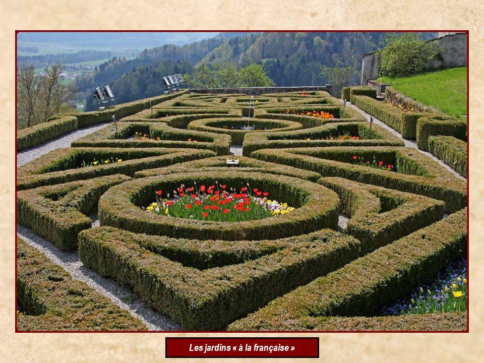En faisant le tour du château, par le chemin de ronde, nous avons découvert un magnifique jardin, pas très fleuri pour la saison, mais très prometteur, dans le courant de lété .