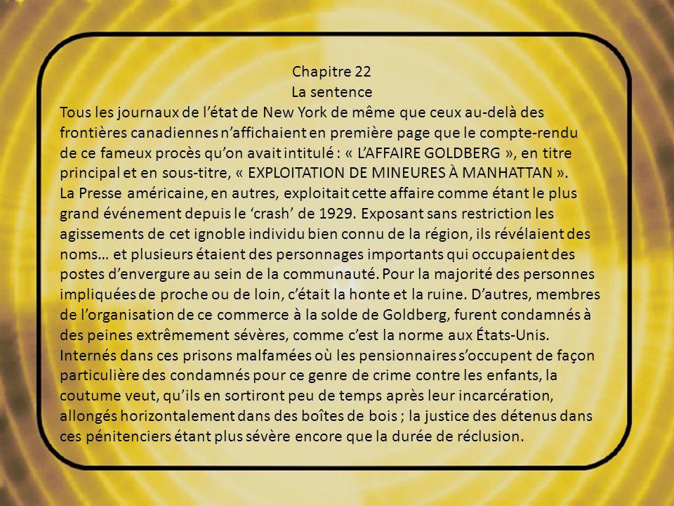 20 Roman inédit de Léo Beaulieu Chapitre 22 La sentence