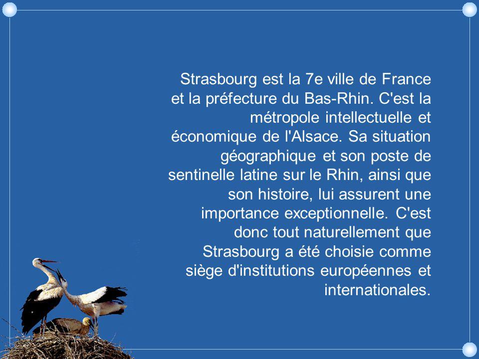 Strasbourg est la 7e ville de France et la préfecture du Bas-Rhin.