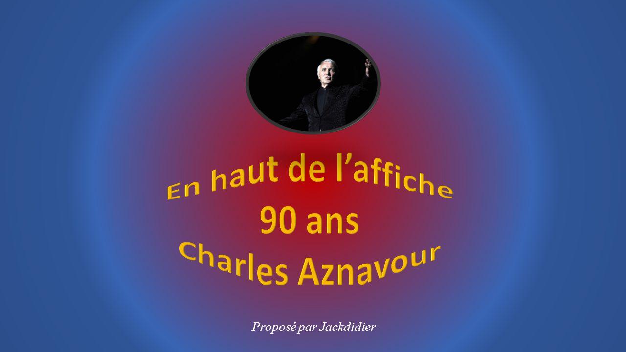 Charles AZNAVOUR a chanté en 6 langues différentes vendu plus 100 millions de disques dans le monde entier composé plus 1000 chansons et, continue de composer.