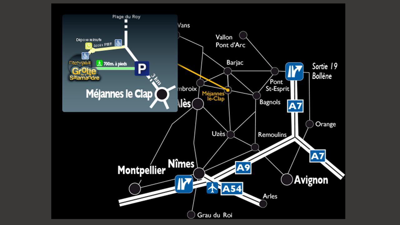 Au cœur des Cévennes, en pleine nature, située sur le territoire de Saint Privat de Champclos et, accessible par Méjannes le Clap (Gard) une grotte am
