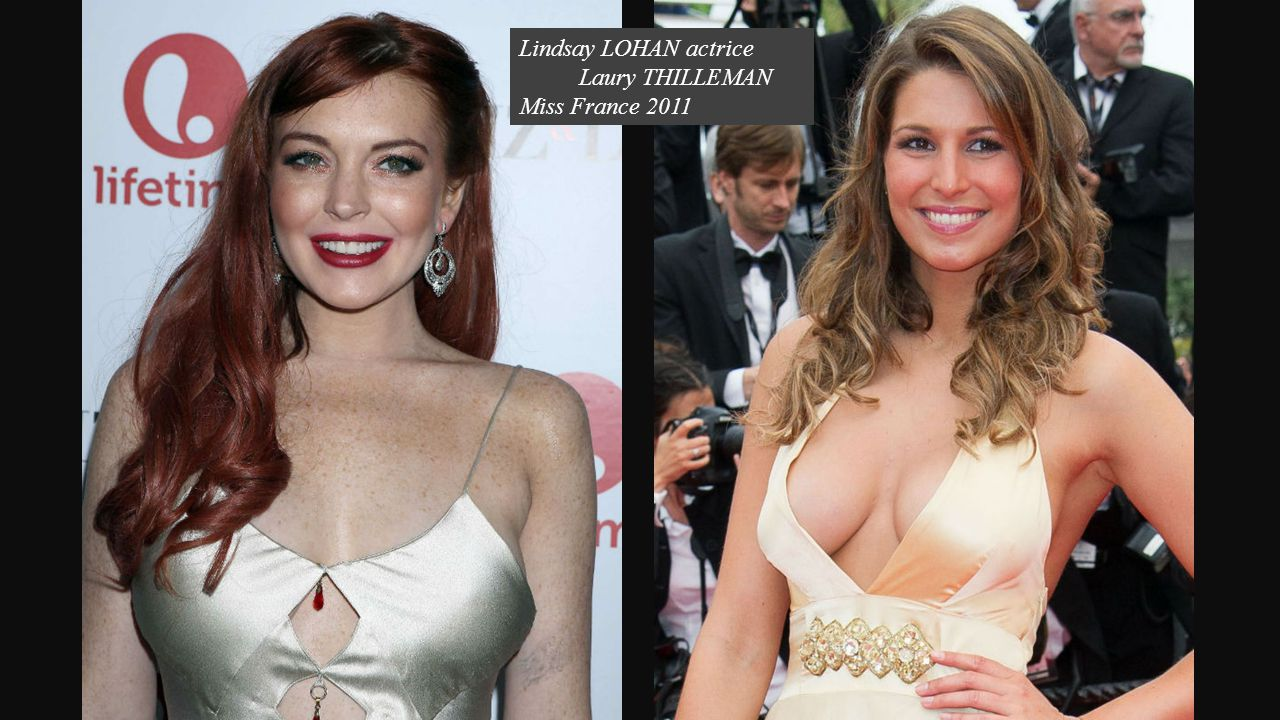 Lindsay LOHAN actrice Laury THILLEMAN Miss France 2011