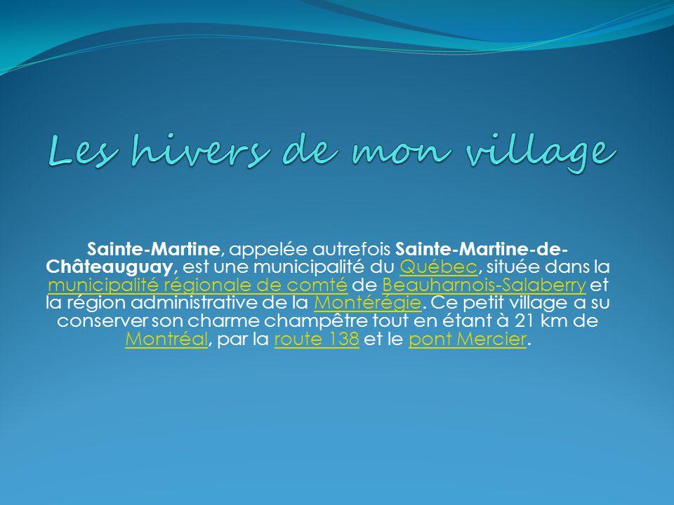 Sainte-Martine, appelée autrefois Sainte-Martine-de- Châteauguay, est une municipalité du Québec, située dans la municipalité régionale de comté de Beauharnois-Salaberry et la région administrative de la Montérégie.