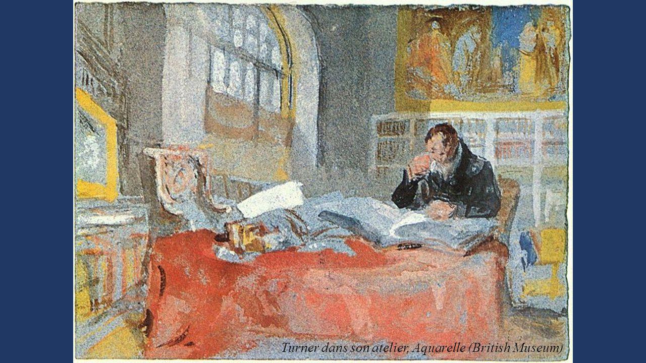 Turner dans son atelier, Aquarelle (British Museum)