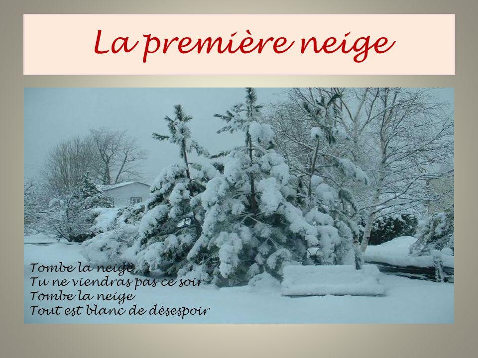 Tombe la neige Tu ne viendras pas ce soir Tombe la neige Tout est blanc de désespoir