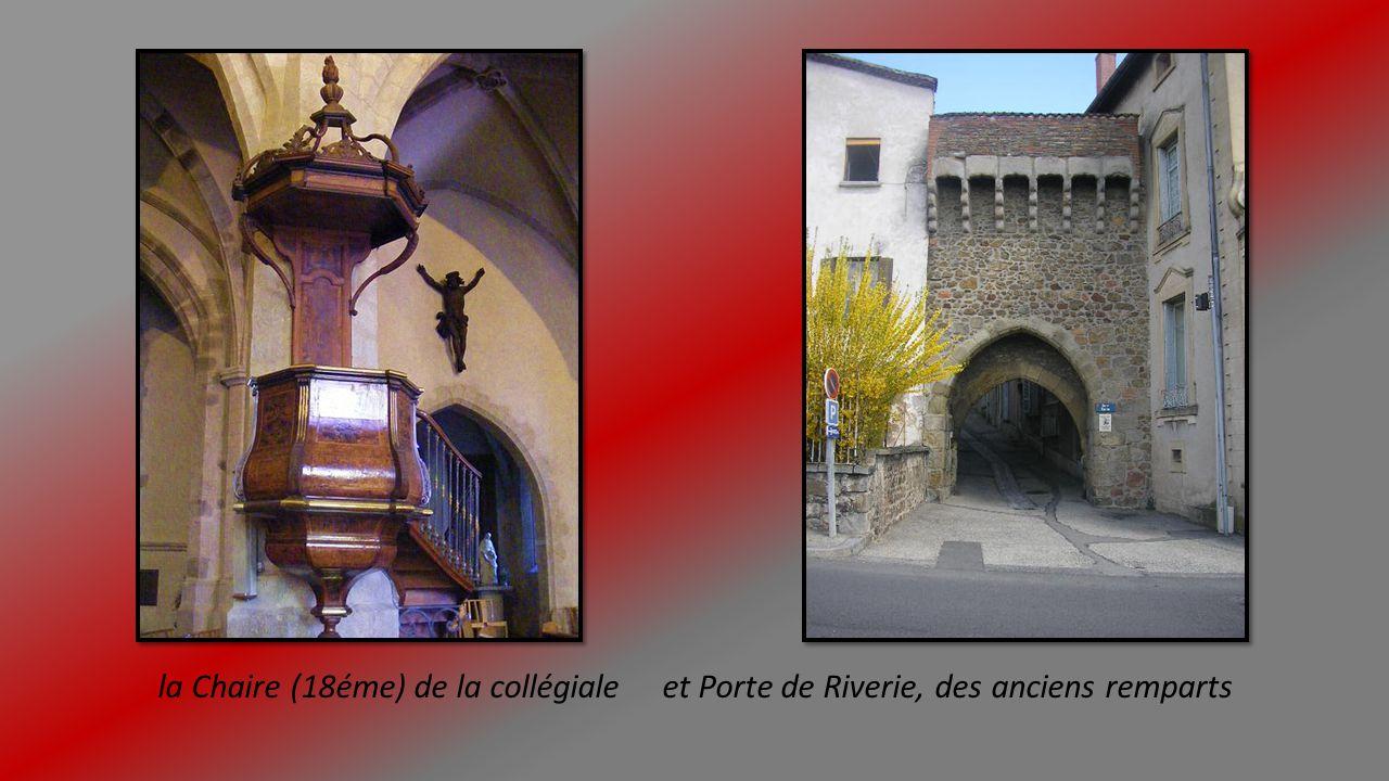 Tour, abside et intérieur de la collégiale