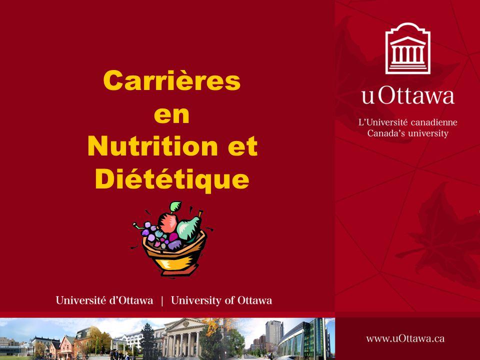 Carrières en Nutrition et Diététique