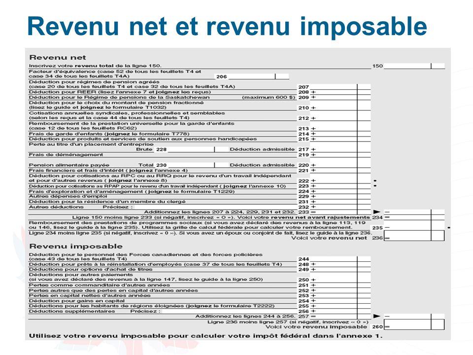 36 Revenu net et revenu imposable