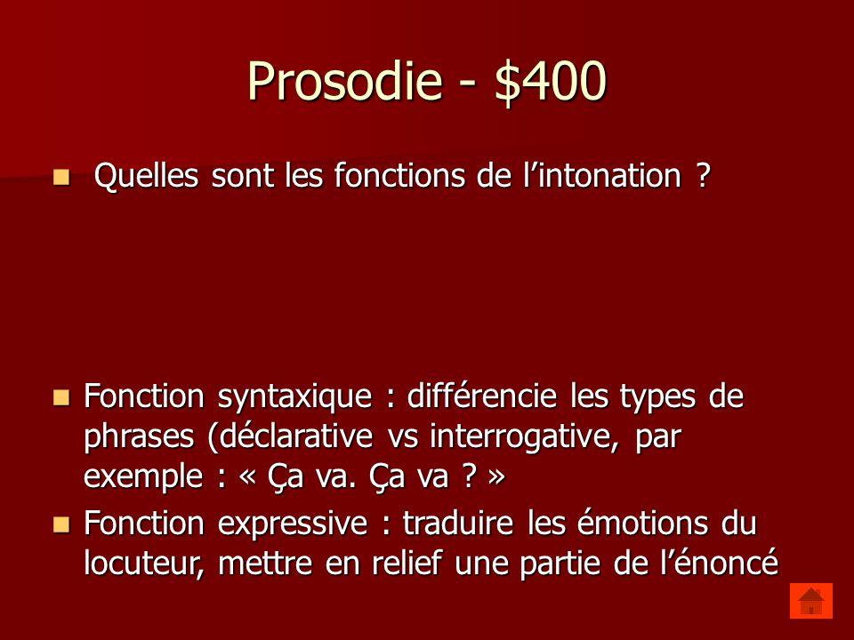 Prosodie - $300 Quest-ce que la fonction démarcative de la prosodie .