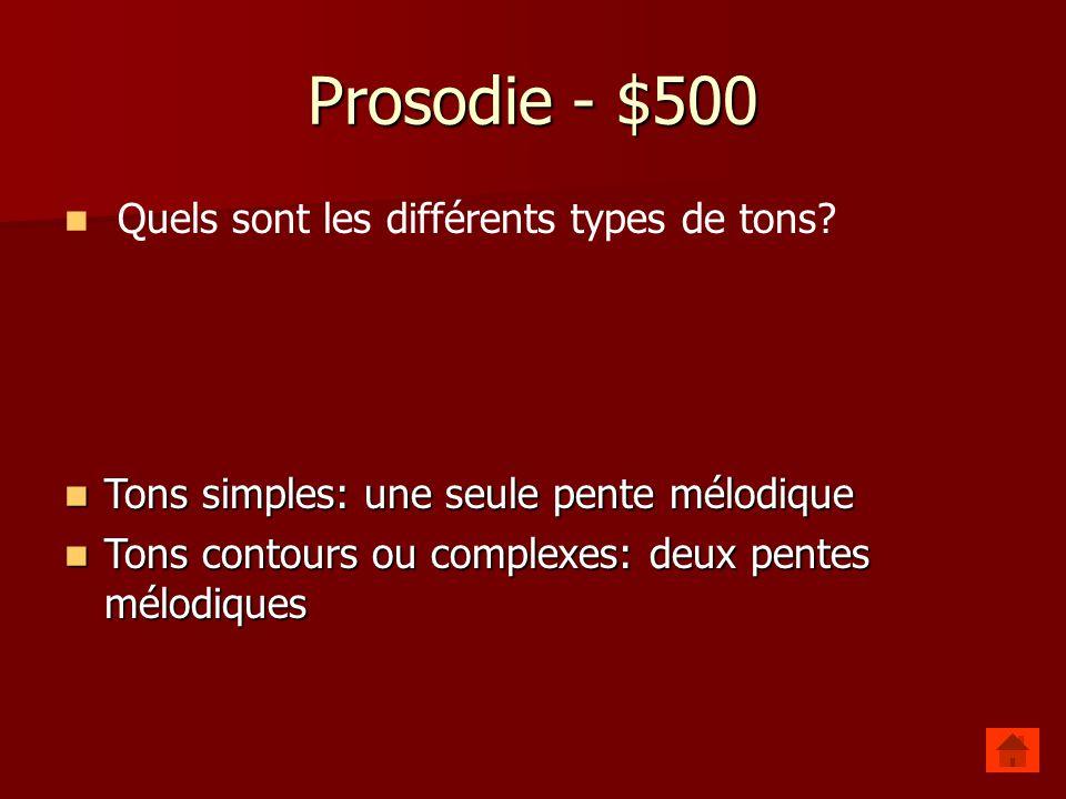 Prosodie - $400 Quelles sont les fonctions de lintonation .
