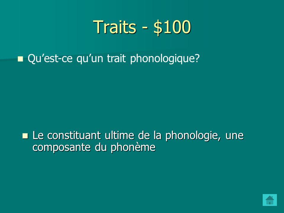 Phonèmes - $500 Quest-ce quune variante libre.Donnez un exemple.