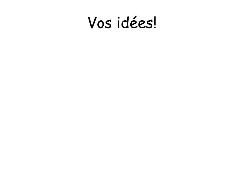 Vos idées!