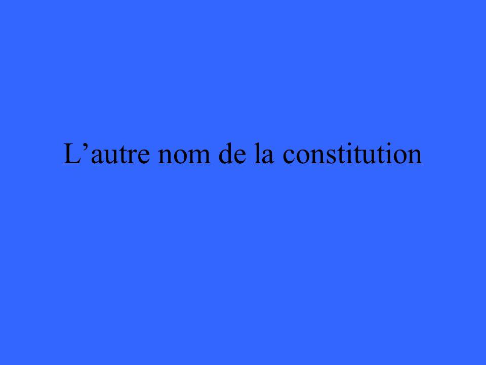 Lautre nom de la constitution